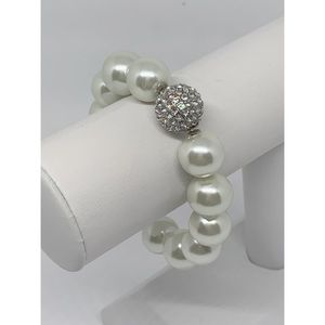 Chico's Pearl and Pave Stretch Bracelet